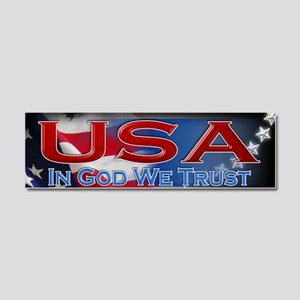 USA bumber sticker 001 Car Magnet 10 x 3